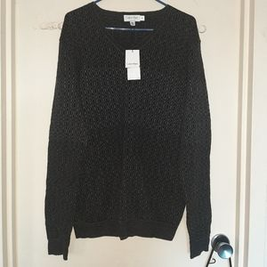 Calvin Klein Black/Gray Sweater Men's Large NWT